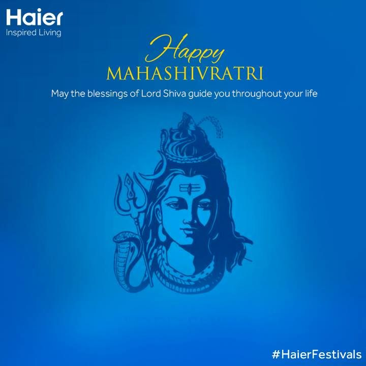 May the glory of the divine Shiva, remind us of our capabilities and help us attain success! #Haier wishes you #HappyMahaShivratri