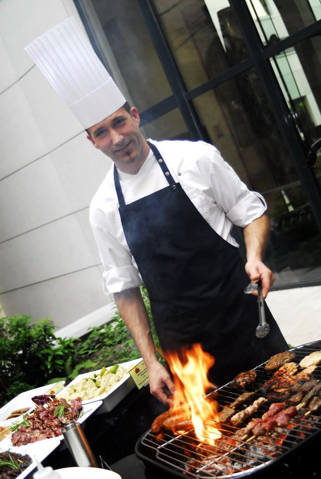 bbq party with our chef