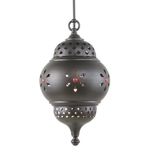 Royce Lighting RLPE5116/1-23 Marrakech 1-Light Outdoor Pendant, Oil-Rubbed Bronze by Royce Lighting. $78.60. From the Manufacturer                Part of The Marrakech collection is this 1-Light outdoor pendant in a custom oil-rubbed bronze finish, designed by Deborah Shavlik, with its ornate details and colorful accents, brings to mind the exotic interiors and courtyards of Morocco. Add 1 or even a pair to your patio-or to any room-for a personalized but timeless ...