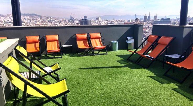 €143,10 Het Barcelona Universal biedt gratis WiFi, een fitnessruimte en een zwembad op het dak met uitzicht op de stad.