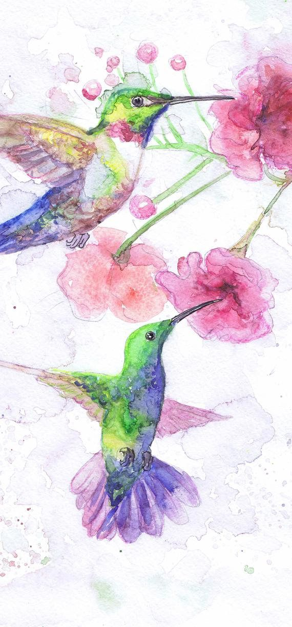 Hummingbird And Flower Art Watercolor Birds, Pink Humming bird Painting Watercolor flowers Art Prints, Humming bird Picture Flower Wall art high quality fine art print of my original watercolor painting. It is the work of a watercolor series Portraits of the Heart   Size paper: 14,8 × 21cm,5 4/5 × 8 1/4, A5 (with white borders) - 9.00 $   21 cm x 29,7 cm, 8 1/4 x 11.5/8, A4.(with white borders) - 20.30 $  29,7cm × 42cm, 11,69 × 16,54, A3(with white borders) - 36.00 $  Othe...