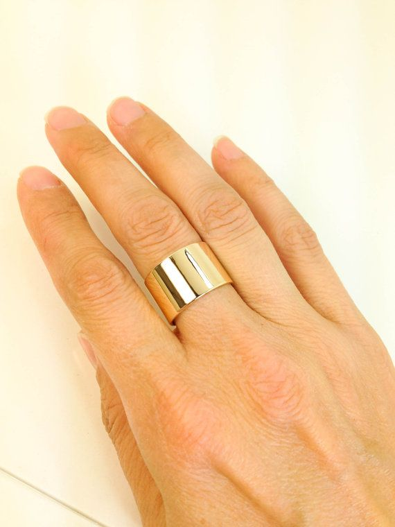 10k Yellow Gold Wide Band 10 Karat Gold Extra Wide Ring Etsy Wide Bands Gold Bands Yellow Gold