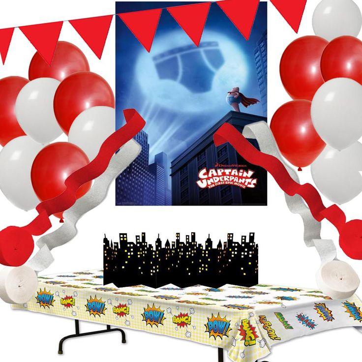 Captain Underpants Party Decoration Set