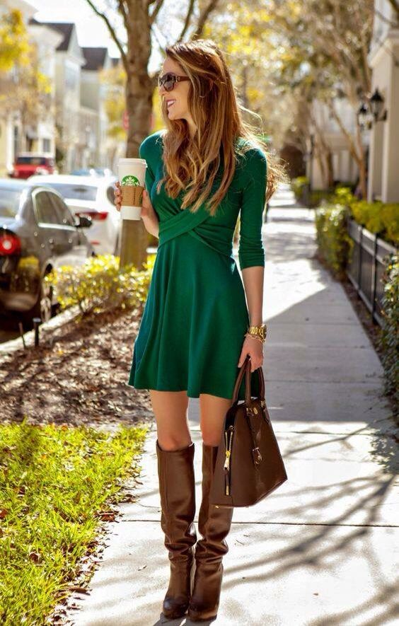 Too short, but I love the concept of this dress! It's hard to find cute long-sleeve dresses