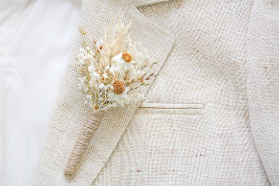 Rustic wedding boutonniere Lapel pin Groom by NoonOnTheMoon