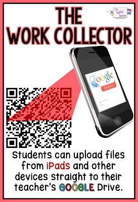 Students easily upload files from iPads and other devices straight to their teacher's Google Drive without having to sign in.