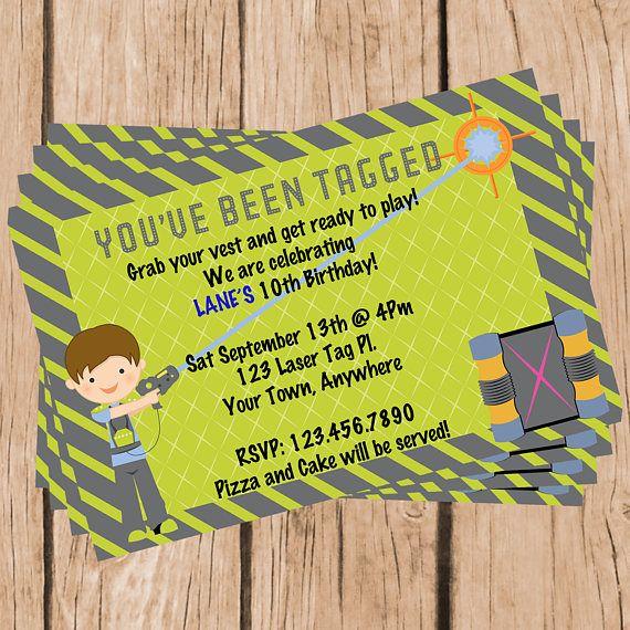Laser Tag Birthday Invitation-Digital Party Invitation Laser