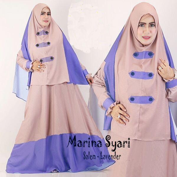 5 Model Baju Gamis Muslimah Modern - Marina