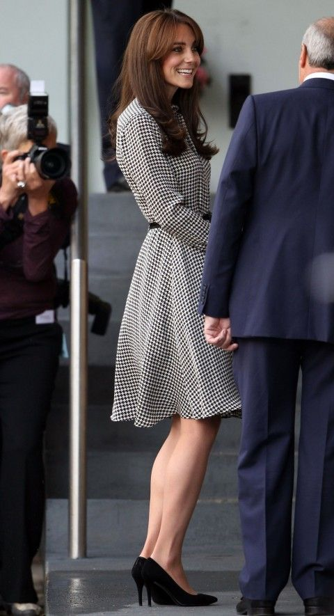 The Duchess Of Cambridge - Kate Middleton - Goes Back To Work And Debuts New Fringe Hairstyle