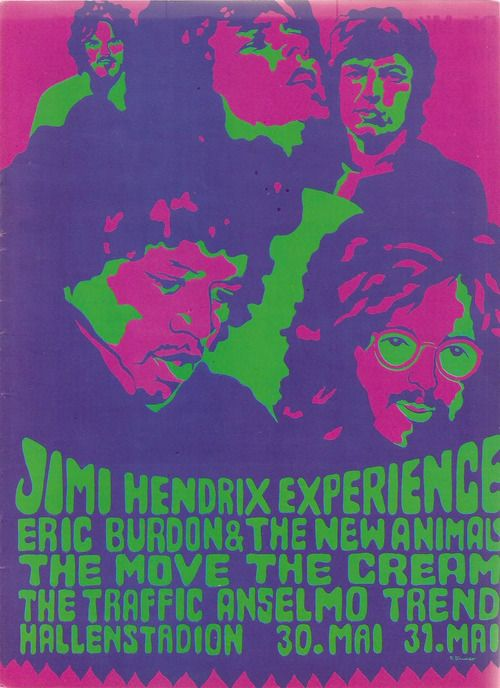 tumblr_m9rzf6W9Vi1r68b0fo1_500.jpg (500×688)Concerts Postersmus, 1960S Posters, Psychedelic Art, Jimi Hendrix, 1960S Newenglandwoodstock, Psychedelic Posters, Late 60S, Music Posters, 60S Fashion