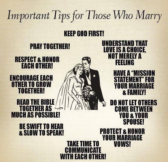 Imp tips on marriage