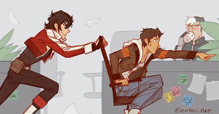Klance with Shiro looking done af----Literally one of y favorite pieces of fanart in existence... No idea why...