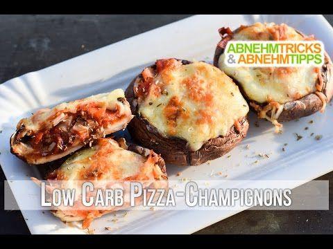 Low Carb Pizza Champignons - schmeckt original wie Pizza!