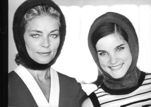 "bettybacallbeauty: ""Lauren Bacall and her daughter Leslie Bogart """