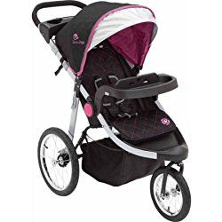 Delta Children J Is for Jeep Brand Cross-country All-terrain Jogging Stroller (Trek Berry Tonal pink)