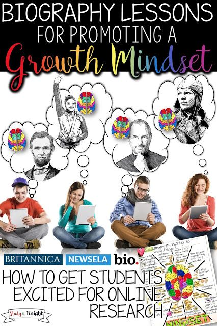 How to Get Students Excited for Online Research: Biography Lessons for Promoting a Growth Mindset. Easily get your English language arts lessons filled with student engagement using NewsELA, Biography.com, and Britannica.com.