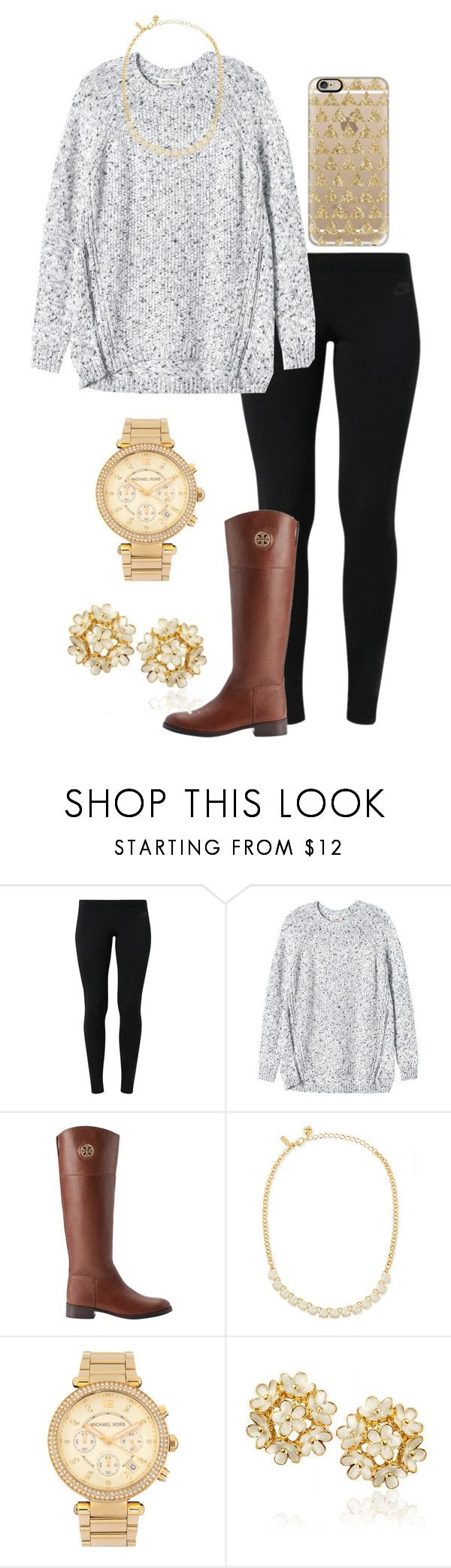 """Oh what a day is today! "" by madelyn-abigail ❤ liked on Polyvore featuring NIKE, Rebecca Taylor, Tory Burch, Kate Spade, Michael Kors and Casetify"