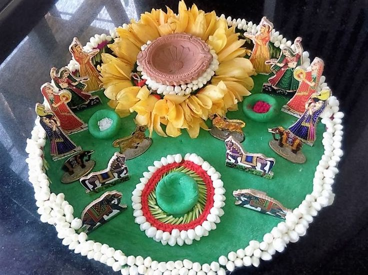 The 64 best images about pooja ki thali and aarti ki thali for Aarti thali decoration ideas