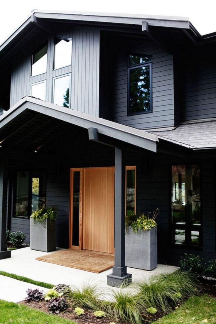 20 elegant and interesting black home ideas for best inspiration black house exterior6