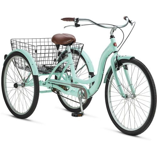 """26"""" Schwinn Meridian Adult Tricycle in Cherry, Blue, Silver, or Mint Green.  I am getting one!!"""