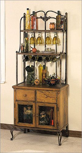 French Bistro bakers racks | Powell Furniture Tarragon Sideboard | Bakers Racks