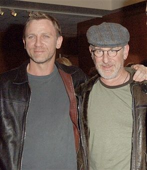 Daniel Craig and Steven Spielberg during 'Munich' Special Los Angeles Screening - December 20, 2005 at Academy Of Motion Picture Arts & Sciences in Beverly Hills, California, United States.