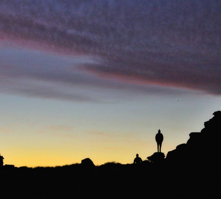 S U N S E T   S I L H O U E T T E  O how the beauty of nature always draws a crowd.  Matroosberg, Western Cape, South Africa   #hike #sunset #silhouettes #mountains #southafrica #beutifuldestinations #nature