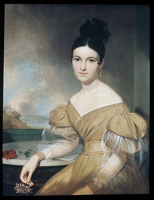 Mrs. Winfield Scott, dated 1831, by Asher Brown Durand (American, Jefferson, New Jersey 1796–1886 Maplewood, New Jersey). Invisible sleeves!