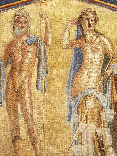 mosaic in Herculaneum  (photo Mary Harrsch)
