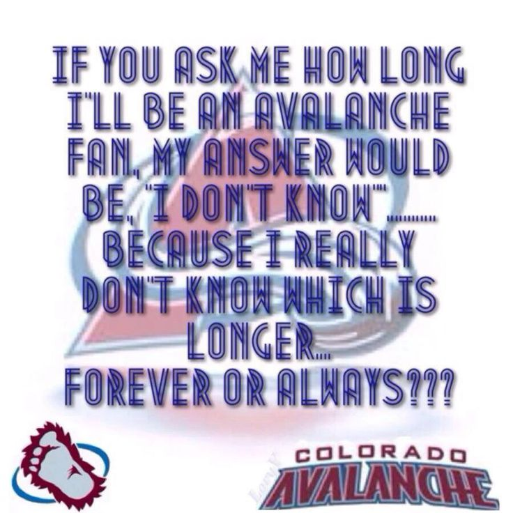 Colorado Avalanche fans