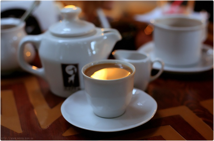 Evening coffee.