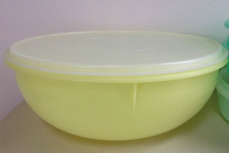 Vintage Large Tupperware Fix N Mix 12 Quot 26 Cup Bowl Yellow