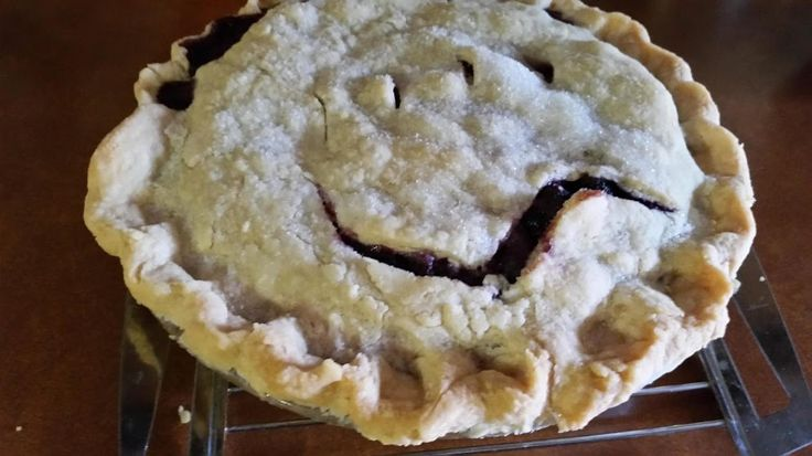 Wild Black Raspberry Pie