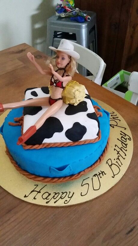 Country & Western 50th Birthday Cake
