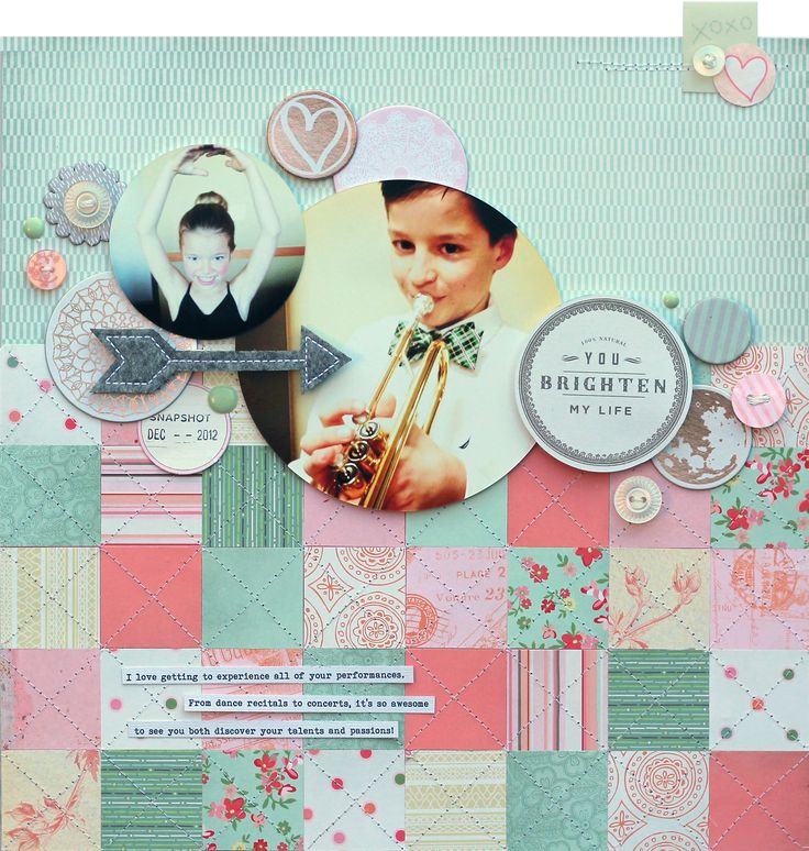 This Brightens my Life by Lisa Dickinson for BasicGrey featuring the Dear Heart Collection - Scrapbook.com