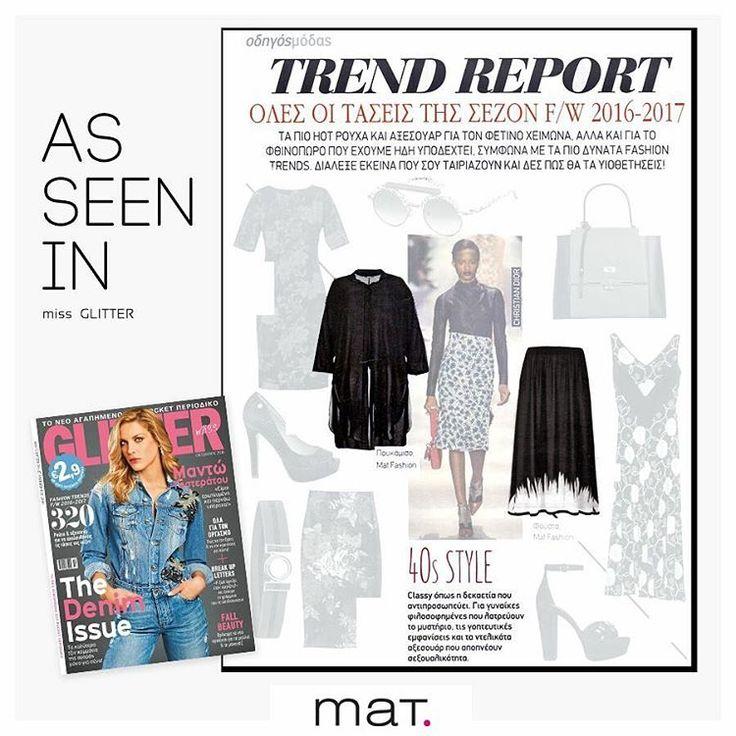 Trend report by Miss glitter mag with #matfshion clothes! To γνωστό περιοδικό προτείνει 40's style... για γυναίκες που θέλουν να κάνουν γοητευτικές εμφανίσεις! Και αυτό μπορούν να το πετύχουν με την maxi ασπρόμαυρη φούστα και μαύρη αέρινη πουκαμίσα της συλλογής μας! Ανακάλυψε την φούστα [code:661.6003]