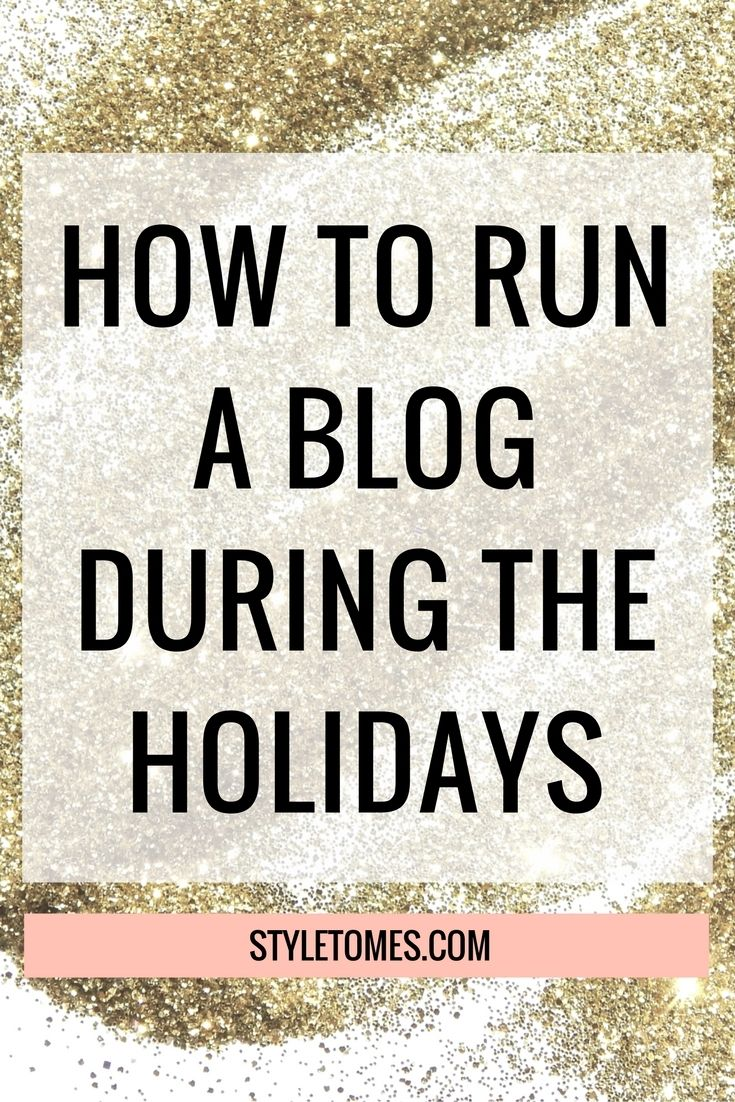 Scheduling Your Blog During the Holidays I've spoken about the power of scheduling your posts before, and as we're getting closer to the holidays season, it's more important to look into it than before. Maintaining your blog during the holidays can be really tough, especially if you're planning on visiting family or having family come over…