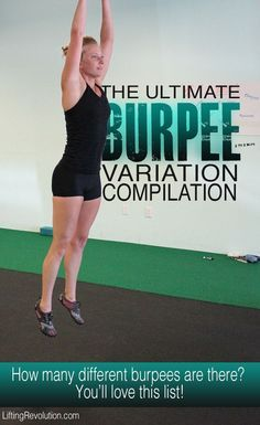 Burpee Variations For Fitness Fun #burpees