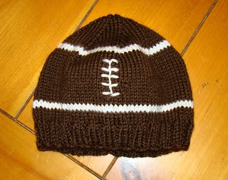 knitted toddler football hat