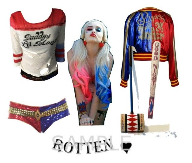 """""""harley quinn from suiside squad"""" by fabstylexoxo ❤ liked on Polyvore featuring art"""