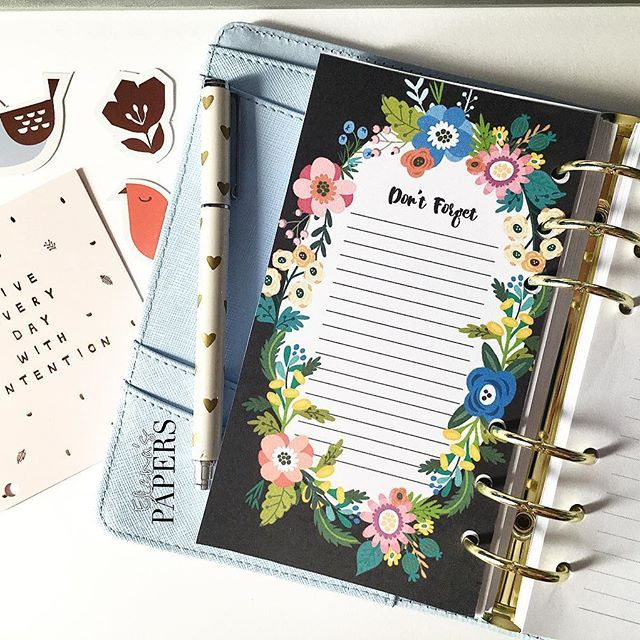 "Floral ""Don't forget"" List for your personal planner available on my etsy shop #planner #dividers #filofax #filofaxaddict #kikkiklover  #plannergirls #planneraddict #filofaxaddict #filofaxlove #filofaxing #plannerfilofax #kikkik #dashboard #etsyshop #lifeinplanner #cartopazze #agenda #plannernerd #plannergeek #happyplanner #plannerlife #plannerlust #plannerworld #plannermania #planningcommunity #elenaspapers #etsyspy #etsyfavourite"