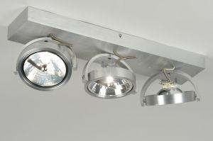 plafondlamp 71552: modern, design, aluminium, rond