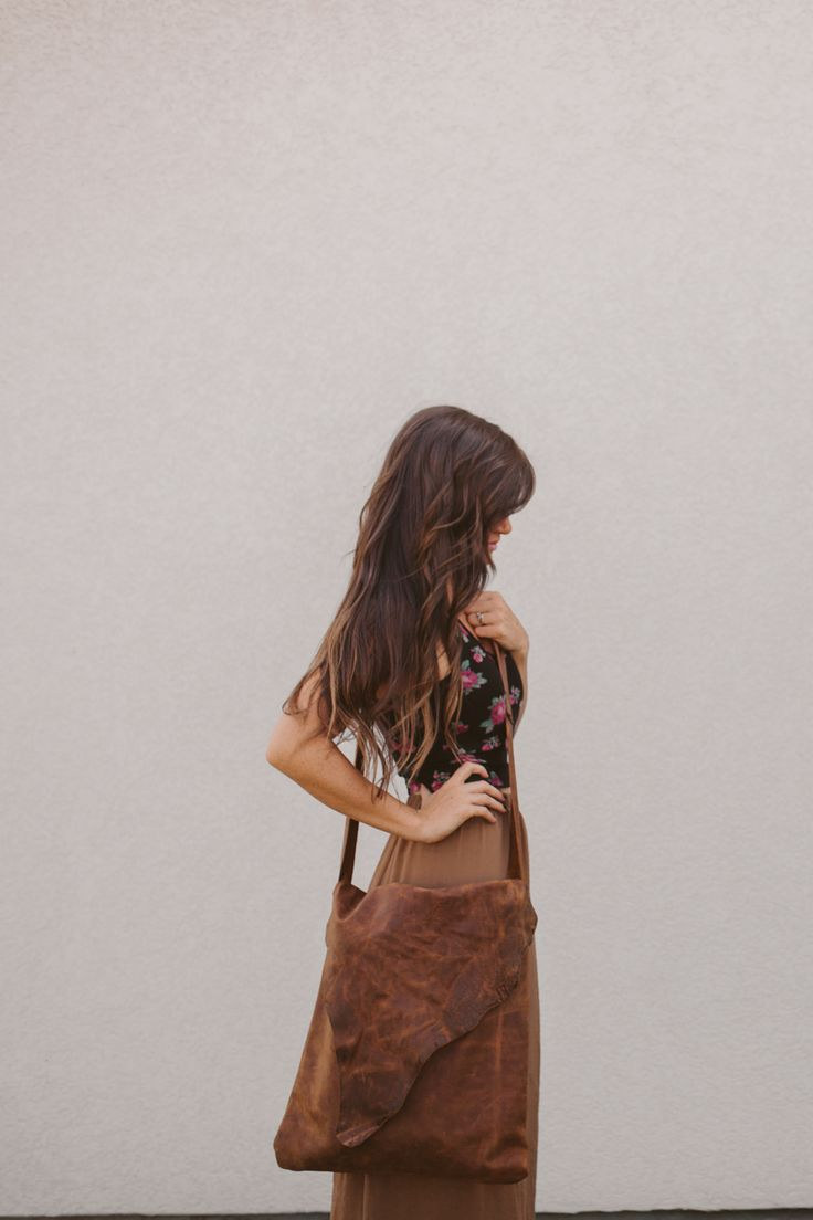 Sincerely, Kinsey: Distressed Leather Book Bag DIY