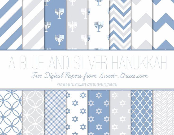Just Peachy Designs: Free Hanukkah Digital Paper Set