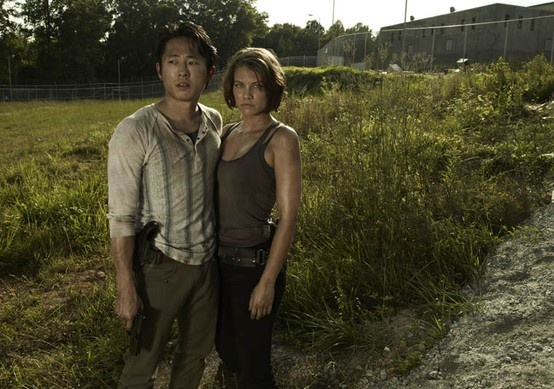 Glen and Maggie walking dead