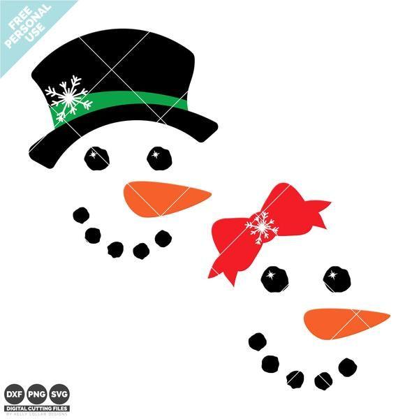 Freebie Friday Snowman Face Svg Set Snowman Faces Printable Snowman Faces Christmas Svg Files