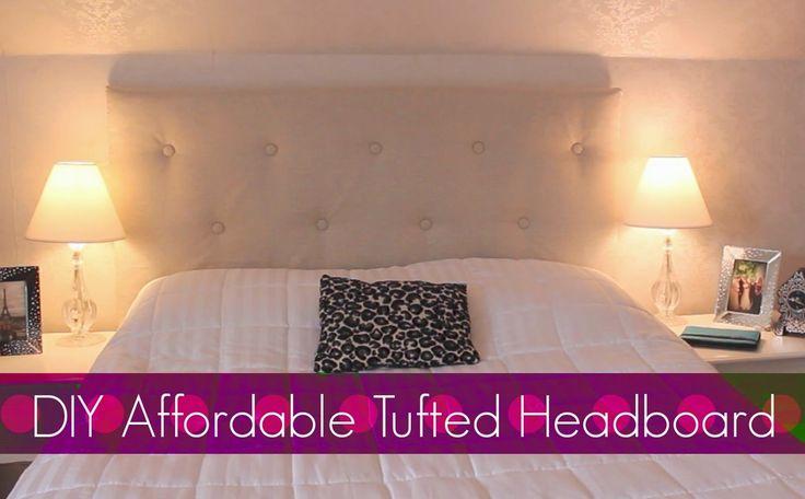 DIY Easy & Affordable Tufted Headboard! Bedroom Decor!