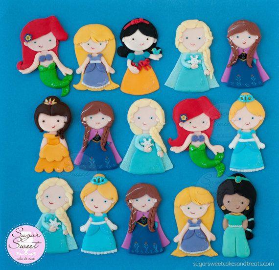 5 primeros de la torta de la princesa Recortable por ShopSugarSweet                                                                                                                                                                                 Más