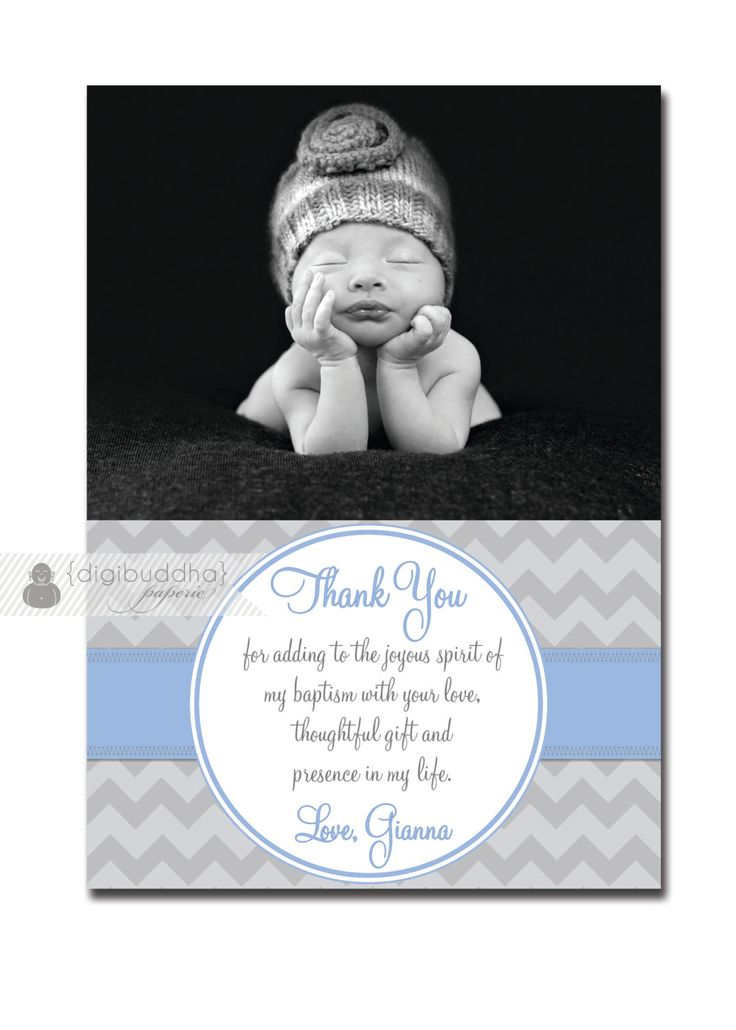 Photo Baptism Thank You Card Photo by digibuddhaPaperie on Etsy, $15.00
