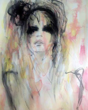 """Saatchi Art Artist Fiona Maclean; Painting, """"Lizzie"""" #art #saatchiart"""